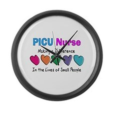 PICU Nurse.PNG Large Wall Clock