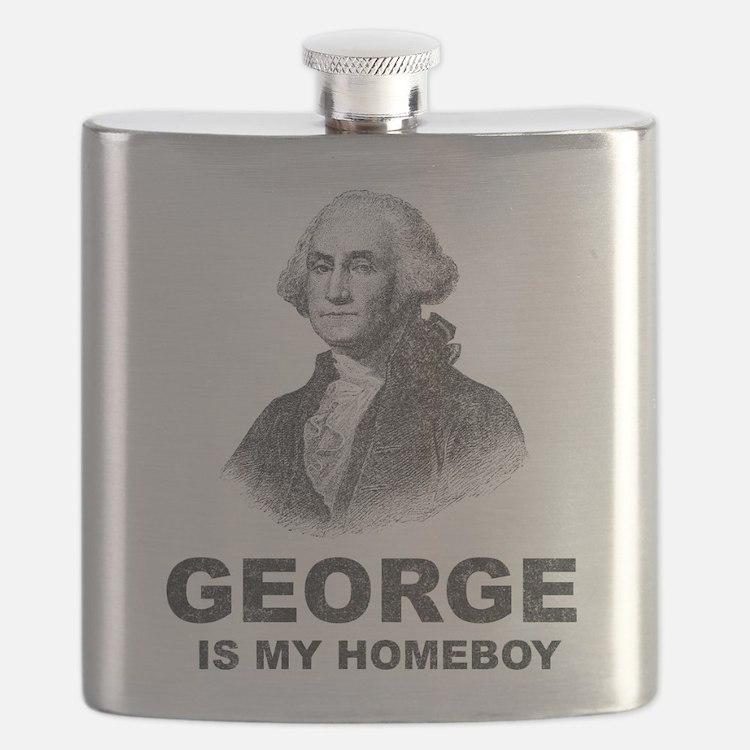 Cute George washington Flask