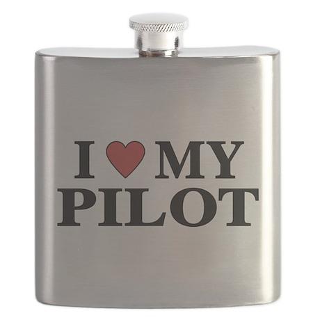 I Love My Pilot Flask