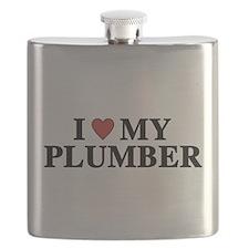 I Love My Plumber Flask