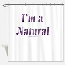 Black Natural Hair Shower Curtains