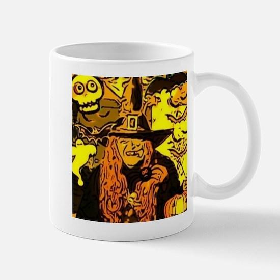 Halloween Witch Comic Mug