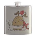 Funny Christmas Dog Flask