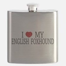 Love English Foxhound Flask