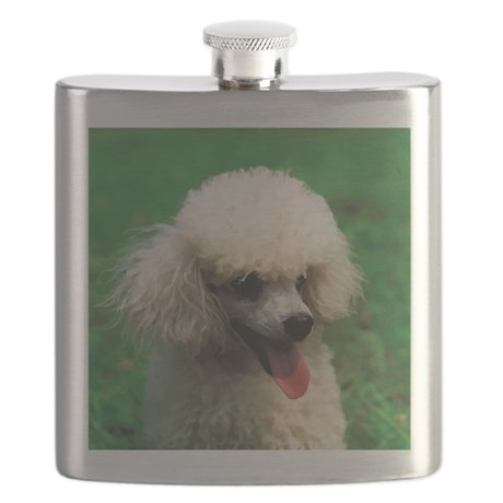 Cute Poodle Flask