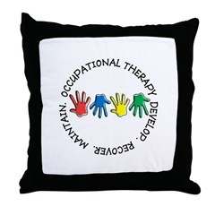 OT CIRCLE HANDS 2.PNG Throw Pillow