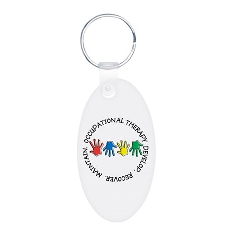 OT CIRCLE HANDS 2.PNG Aluminum Oval Keychain