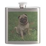 Cute Pug Flask