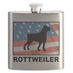 Patriotic Rottweiler Flask