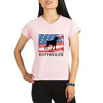 Patriotic Rottweiler Performance Dry T-Shirt