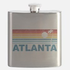 Retro Palm Tree Atlanta Flask