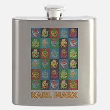 Pop Art Karl Marx Flask