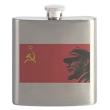 Lenin Soviet Flag Flask