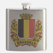 Stylized Brussels Crest Flask