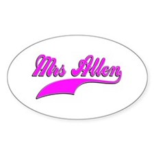 Mrs Allen Decal