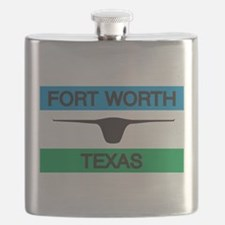 Fort Worth Flag Flask