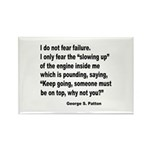 I Do Not Fear Failure Rectangle Magnet (10 pack)
