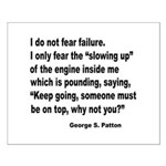 I Do Not Fear Failure Small Poster