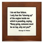 I Do Not Fear Failure Framed Tile