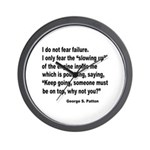 I Do Not Fear Failure Wall Clock