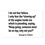 I Do Not Fear Failure Postcards (Package of 8)