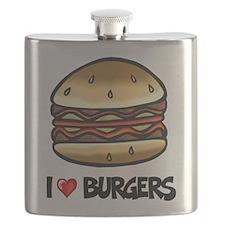I Love Burgers Flask