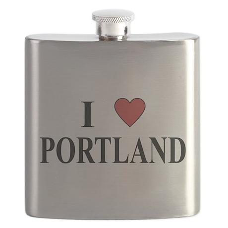 I Love Portland Flask