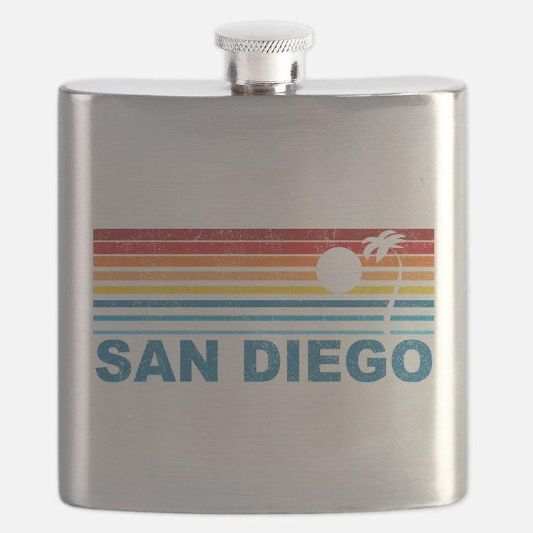 Palm Tree San Diego Flask