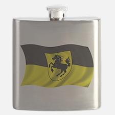 Wavy Stuttgart Flag Flask