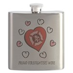 Proud Firefighter's Wife Flask