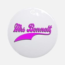 Mrs Bennett Ornament (Round)