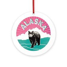 Alaska Bear Ornament (Round)