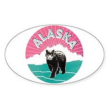 Alaska Bear Oval Bumper Stickers