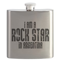 Rock Star In Argentina Flask