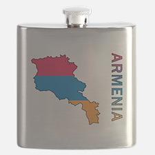 Map Of Armenia Flask