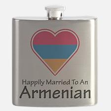 Happily Married Armenian Flask