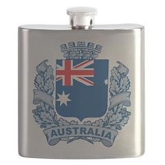 Stylish Australia Crest Flask