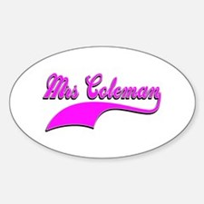Mrs Coleman Decal