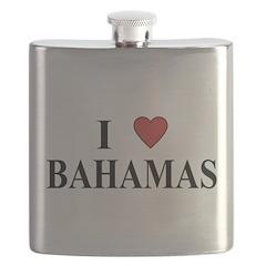 I Love Bahamas Flask