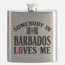 Somebody In Barbados Flask
