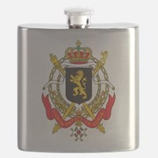 Belgium Coat Of Arms Flask