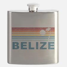 Retro Belize Palm Tree Flask