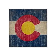 "Vintage Colorado Flag Square Sticker 3"" x 3"""