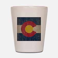 Vintage Colorado Flag Shot Glass