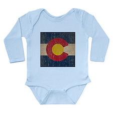 Vintage Colorado Flag Long Sleeve Infant Bodysuit