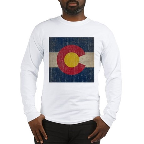 Vintage Colorado Flag Long Sleeve T-Shirt