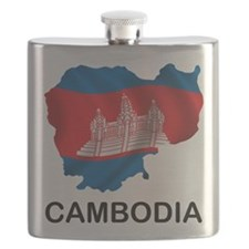 Map Of Cambodia Flask
