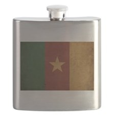 Vintage Cameroon Flag Flask