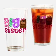 Big Sister Puppy Dog Drinking Glass