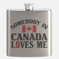 Somebody In Canada Flask